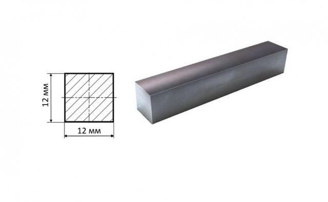 Квадрат стальной 12*12 мм