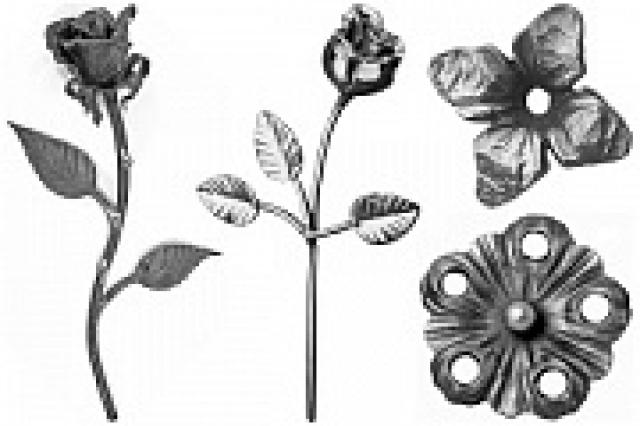 Цветы кованые