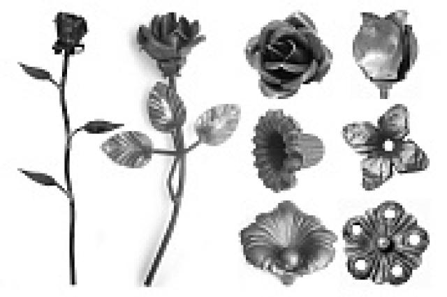 Металлические цветы