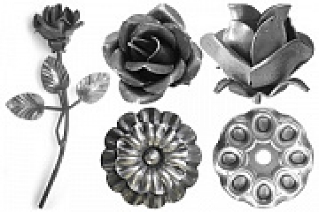 Цветы штампованные