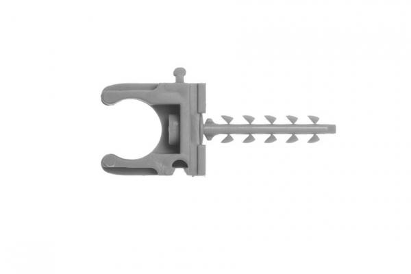 Скоба держатель для металлопластиковых труб, в комплекте с дюбелем 25 мм (4-44956-25)