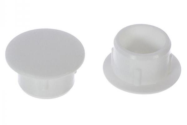 Заглушка белая 12 мм (на отверстие)