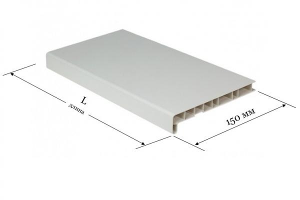 Подоконник ПВХ 150 мм Window System белый