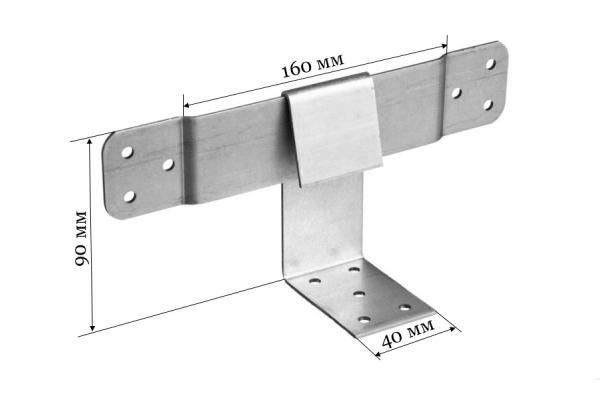 Опора скользящая для стропил KUCIS 160*90*40 мм