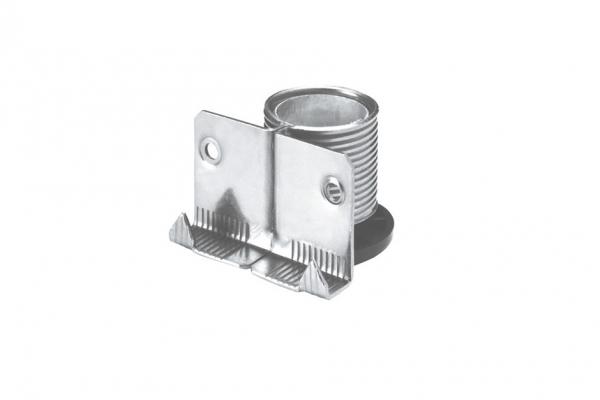 Ножка мебельная накладная с металлическим подпятником (300.00.Z2.00.Z2)