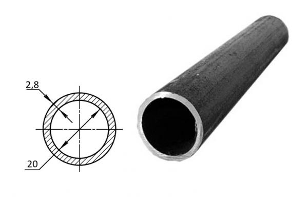 Труба водогазопроводная стальная D-внутренний 20 мм (цена за хлыст)