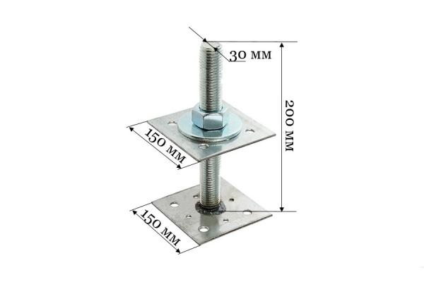 Анкер регулировочный по высоте ARH 30*150 мм