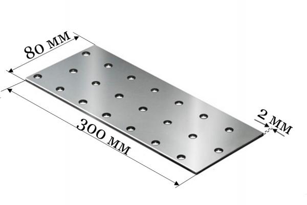 Пластина соединительная PS 80*300*2 мм