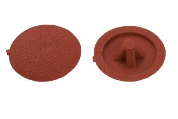 Заглушки на саморезы №2 красный кирпич (100 шт)