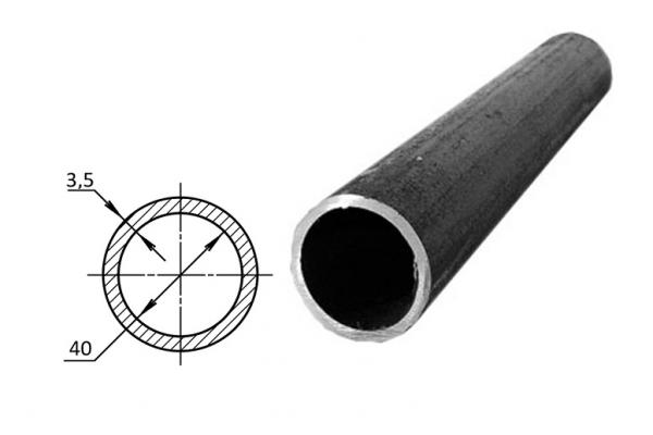 Труба водогазопроводная стальная D-внутренний 40 мм (цена за хлыст)