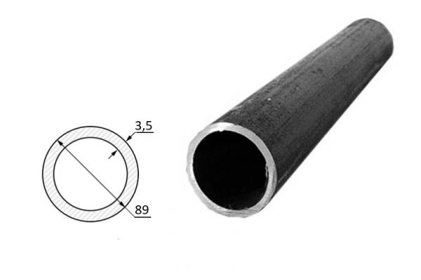 Труба электросварная стальная D-наружный 89 мм (цена за хлыст)