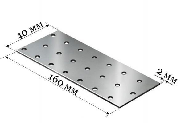 Пластина соединительная PS 40*160*2 мм
