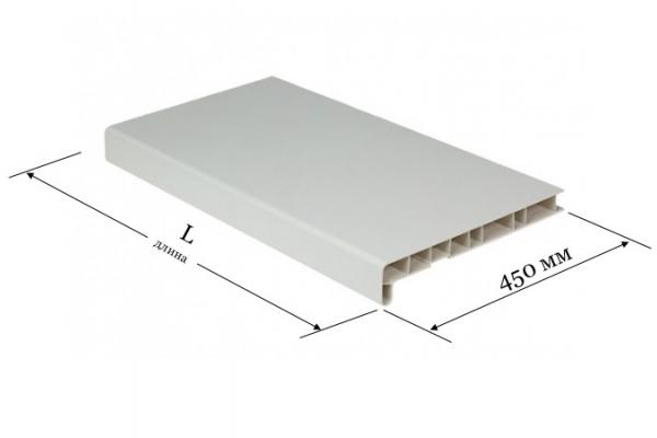 Подоконник ПВХ 450 мм Window System белый