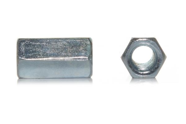 Втулка соединительная резьбовая DIN 6334 цинк М6*18 мм