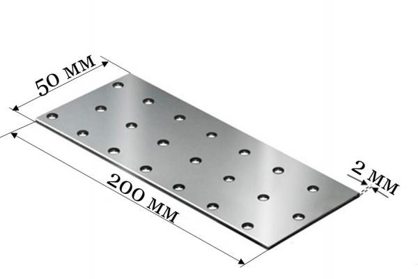 Пластина соединительная PS 50*200*2 мм