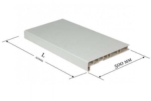 Подоконник ПВХ 500 мм Window System белый