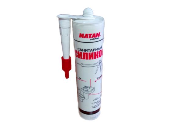 Герметик санитарный NATAN  белый 280 мм