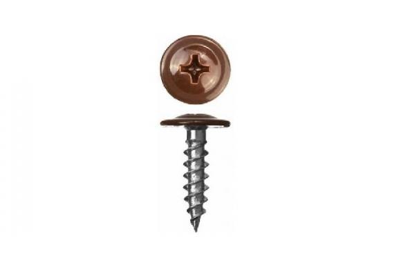 Саморез прессшайба 4,2*51 мм цинк острый RAL 8017 шоколад