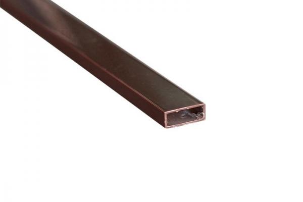 Поперечный профиль импоста (коричневый) для москитной сетки