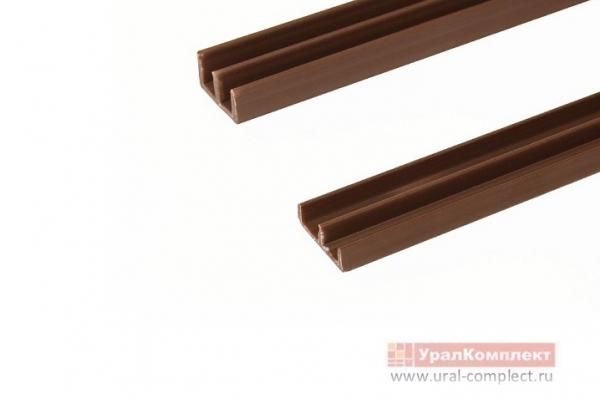 Направляющие для стекла двойные L-2 м коричневый