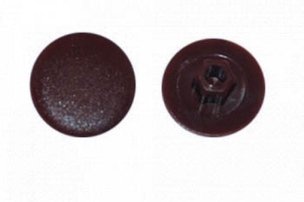 Заглушка на конфирмат №9 Шоколадно-коричневая (50 шт)