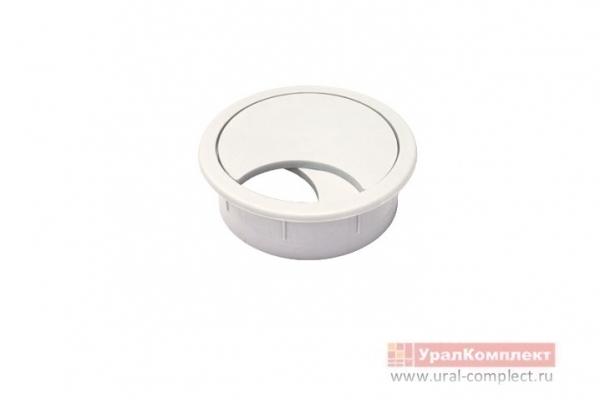 Заглушка мебельная для кабель-канала КК 60 мм белый