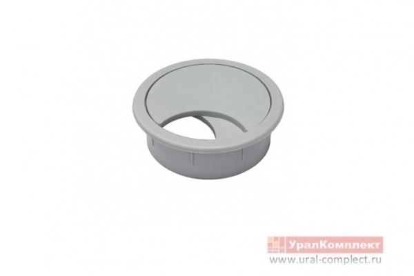 Заглушка мебельная для кабель-канала КК-60 мм серый