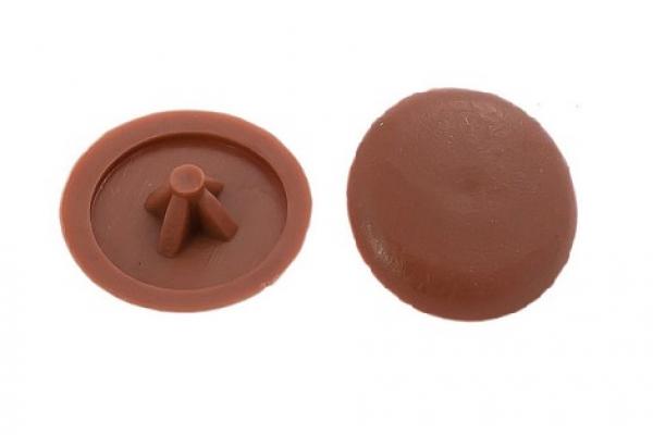 Заглушки на саморезы №2 орех (100 шт)