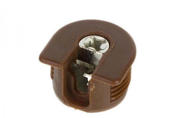 Стяжка эксцентриковая мебельная VB 35MD/16 мм коричневая Hettich