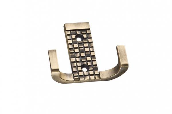 Крючок мебельный двухрожковый бронза (KR 0160 ВА)