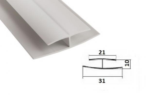 Профиль соединительный для панелей ПВХ 3 м белый