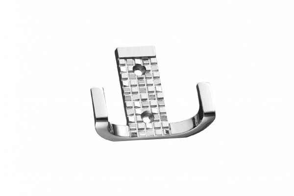 Крючок мебельный двухрожковый хром (KR 0160)