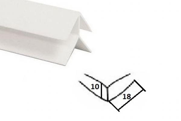 Уголок наружный для панели ПВХ 3 м белый