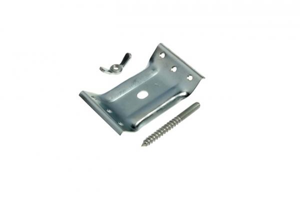 Стяжка для стола с винтом мебельная 2 мм цинк