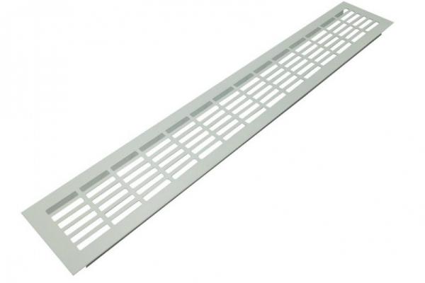 Решетка вентиляционная для подоконника 480*80 мм алюминиевая белая