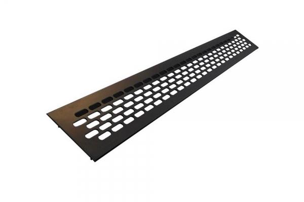 Решетка вентиляционная для подоконника 480*60 мм алюминиевая черная