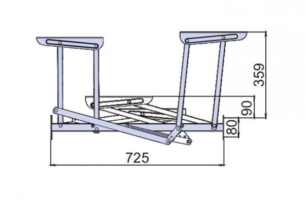 Механизм трансформации стол-трансформер Сан - Ремо